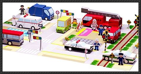 Paper Craft City - new paper model mini city diorama for free