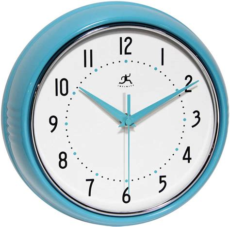 infinity retro wall clock the retro turquoise wall clock by infinity instruments