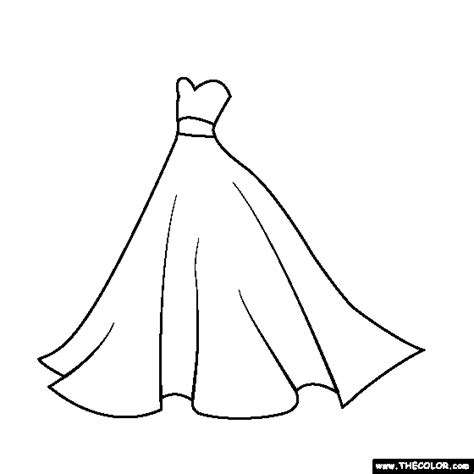 Dresses colouring pages