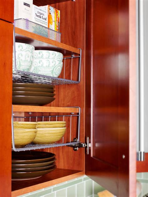 inside kitchen cabinet storage space saving ideas for making room in the kitchen diy