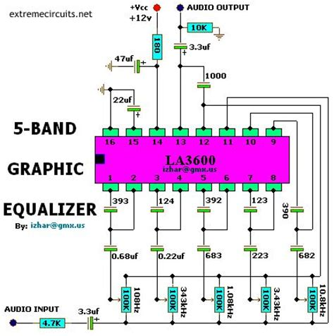 5 Band Graphic Equalizer Electronic Project Pinterest