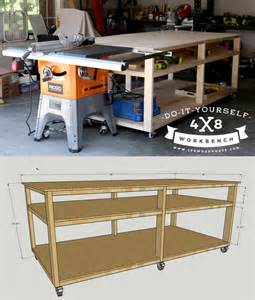 workshop work bench diy workbench