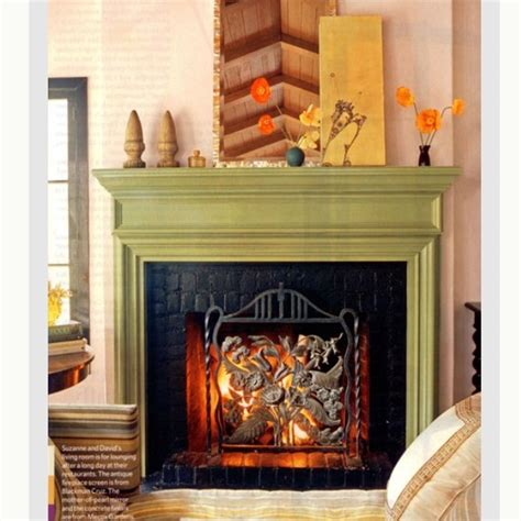 Black Painted Brick Fireplace by Pin By Hairrell On Nesting Fireplace