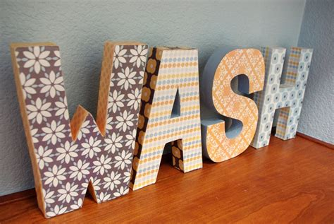 Make Paper Mache Letters - paper mache letters happiness is