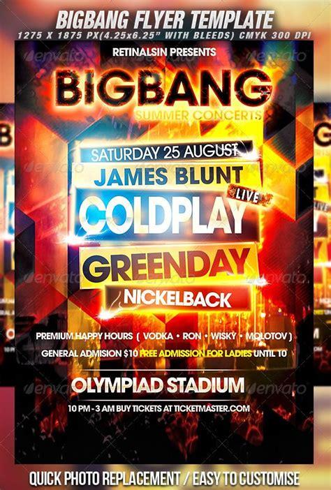 Bigbang Flyer Template Flyer Template Concert Flyer And Modern Fonts Concert Flyer Template