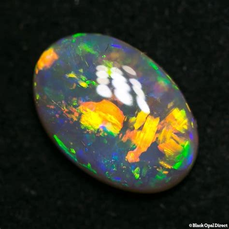 Orange Opal 5 56ct 1 56 ct gem opal 10x7x3mm black opal direct
