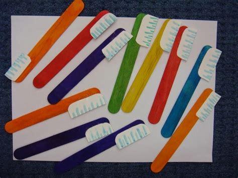 craft stick projects for preschoolers popsicle stick toothbrush craft crafts and worksheets