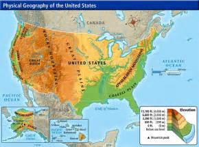 usa map with geography united states geography map
