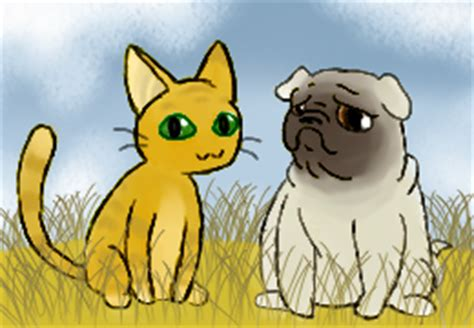 why is my pugs nose curious cat and pug nose pup by pocket arsenal on deviantart