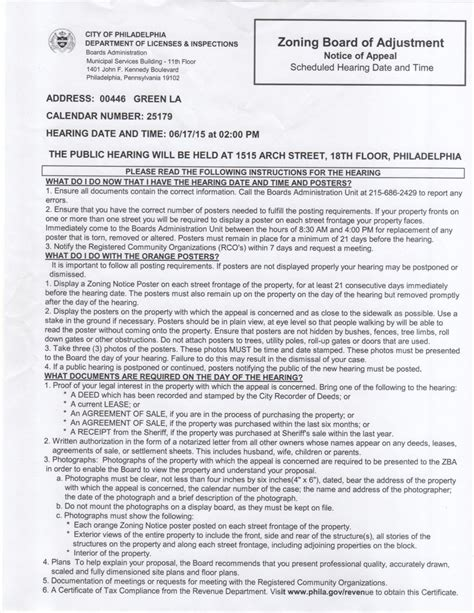 Zoning Appeal Letter Central Roxborough Civic Assoc