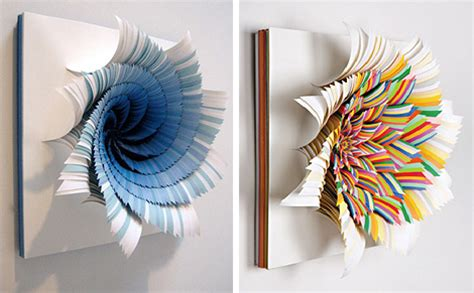How To Make Paper Sculptures At Home - kaleidoscopic paper sculptures