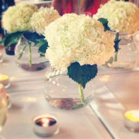 simple centerpieces ours events simple hydrangea centerpieces