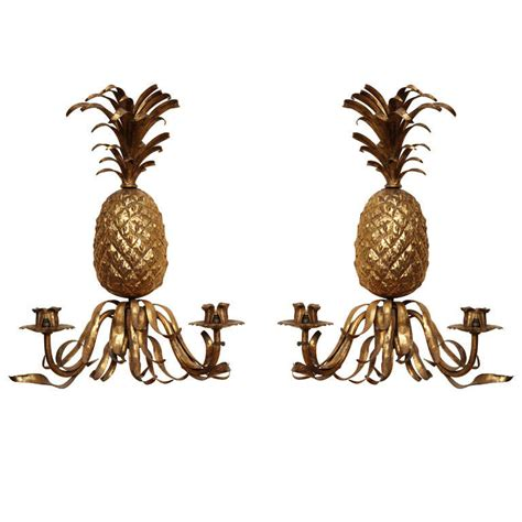 Pineapple Wall Sconce 19th Century Gilt Pineapple Sconces At 1stdibs