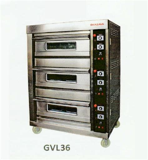Oven Okazawa okazawa 3deck 6tray commercial gas baking oven my power