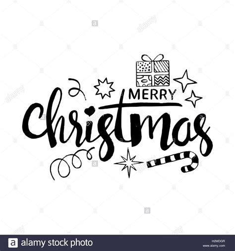 merry christmas modern merry christmas lettering modern vector hand drawn