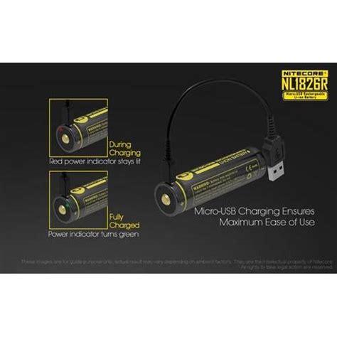 Nitecore 18650 Micro Usb Rechargeable Li Ion Battery 2600mah Nl1826r nitecore 18650 micro usb rechargeable li ion battery 2600mah nl1826r black jakartanotebook
