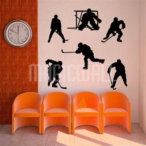 sports wall stickers wall decals hockey team sports wall stickers