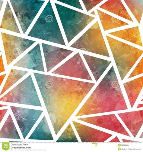triangle pattern after effects colored triangle seamless pattern with grunge effect