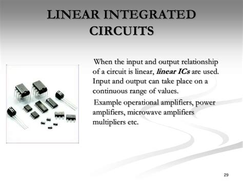 what is a linear integrated circuit integrated circuits