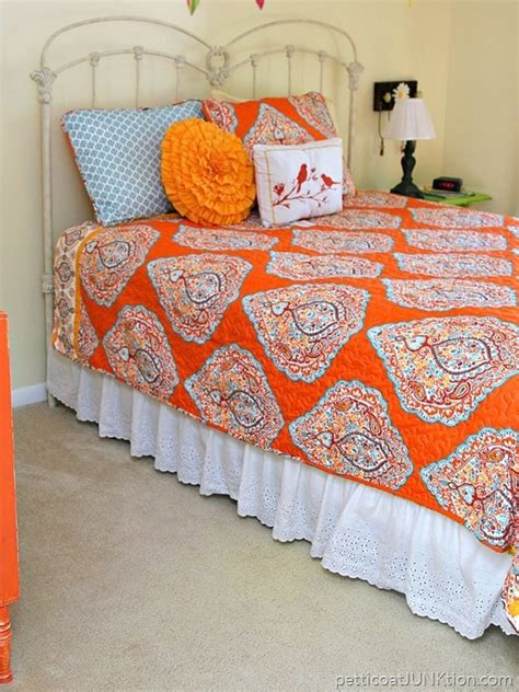 turquoise and orange bedding orange and turquoise bedroom decor makes me smile