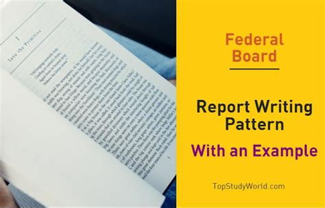 pattern report writing federal board report writing pattern with an exle 2nd