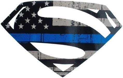 thin line logo thin blue line superman logo
