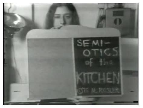 Martha Rosler Semiotics Of The Kitchen by Martha Rosler Semiotics Of The Kitchen Fineart As