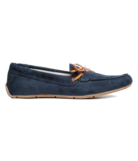 h loafers lyst h m loafers in blue for
