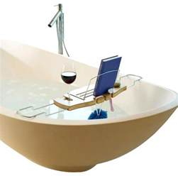 umbra aquala bamboo and chrome bathtub caddy umbra aquala bamboo bathtub caddy contemporary bath and spa accessories by home clever inc