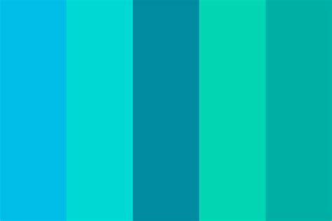 blue green colors between blue and green color palette