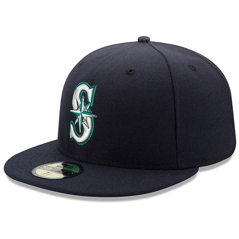 seattle mariners new era mlb team 59fifty fitted hat