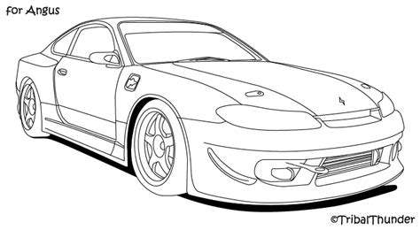 nissan silvia drawing sketch of nissan 240sx coloring pages
