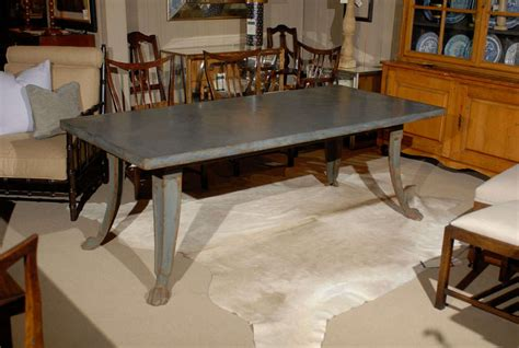 Zinc Top Dining Table At 1stdibs Zinc Dining Room Table