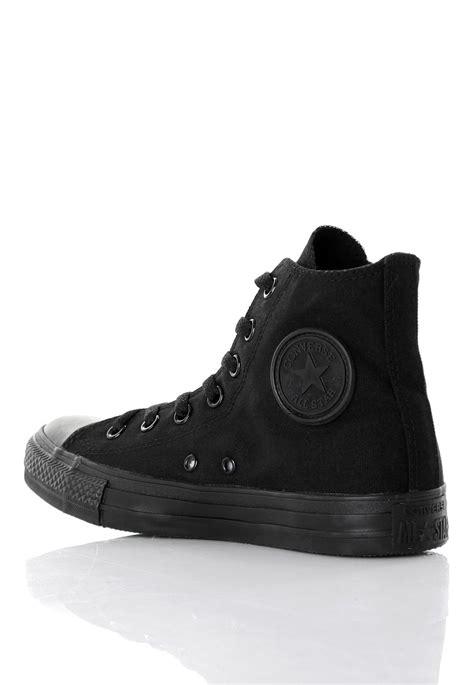 Black Shoes by Converse Chuck All Hi Black Monochrome