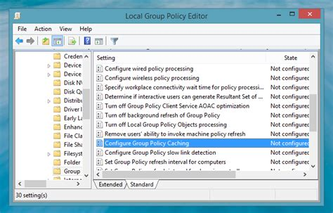computer configuration administrative templates speed up windows 8 1 logon with policy caching