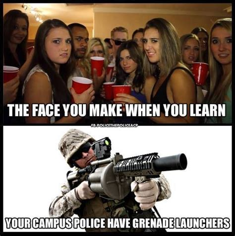 Military Police Meme - why does saddleback college have an mrap armored vehicle