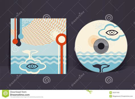 cd cover design template cd cover design template stock vector illustration of