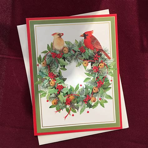 colonial wreath boxed greeting cards