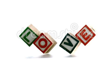 Tme Disigner Lovezi Building Blocks building blocks spelling out falling stock footage 43270814