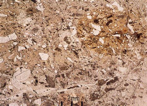 andesite thin section pin thin section of altered andesite on pinterest