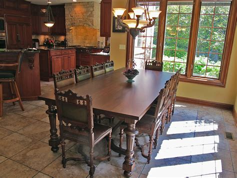Marble Dining Room Table client spotlight renaissance chairs and buffet in chateau