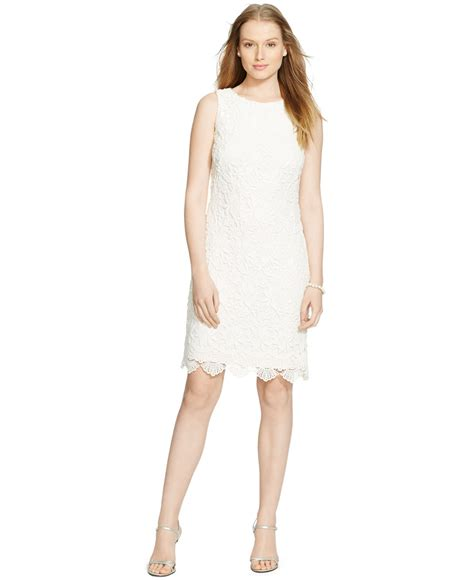 30580 Lace Dress White by ralph sleeveless lace dress in white white lyst