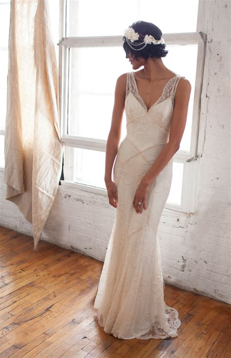 Vintage Style 1920s Wedding Dresses by 20 Deco Wedding Dress With Gatsby Chic