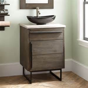 dark grey bathroom vanity 24 quot cael teak vessel sink vanity rustic brown bathroom