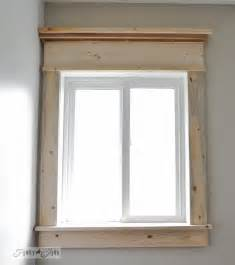 Bathroom Window Trim Kit Canada How To Make A Farmhouse Window With Mouldingfunky Junk