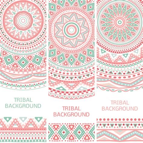 tribal pattern vector free download tribal decorative pattern backgrounds vector 05 free