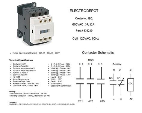 contactor 2 pole din rail wiring diagrams repair wiring