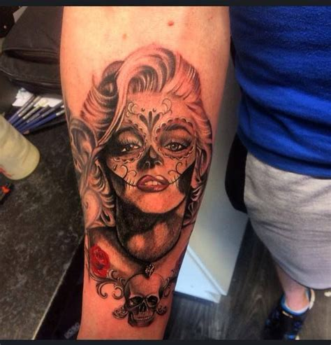 marilyn monroe day of the dead tattoo 25 best ideas about marilyn on d