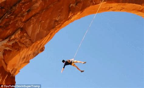 corona arch swing kyle lee stocking utah man 22 accidentally jumps to his