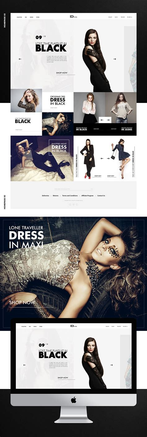 Elegant Fashion Store Website Template Free Psd Download Download Psd Clothing Brand Website Template